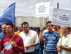 Streik im Hafen von Constanta